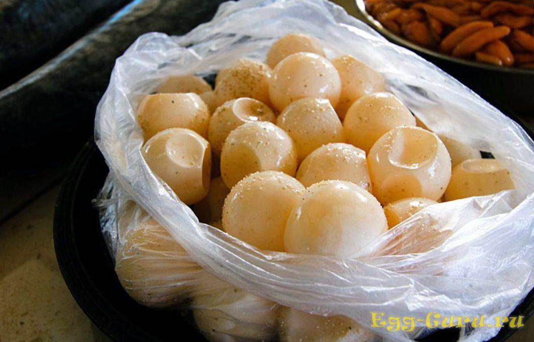 Съедобные черепашьи яйца с мягкой скорлупой