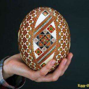 Как разукрасить страусиное яйцо