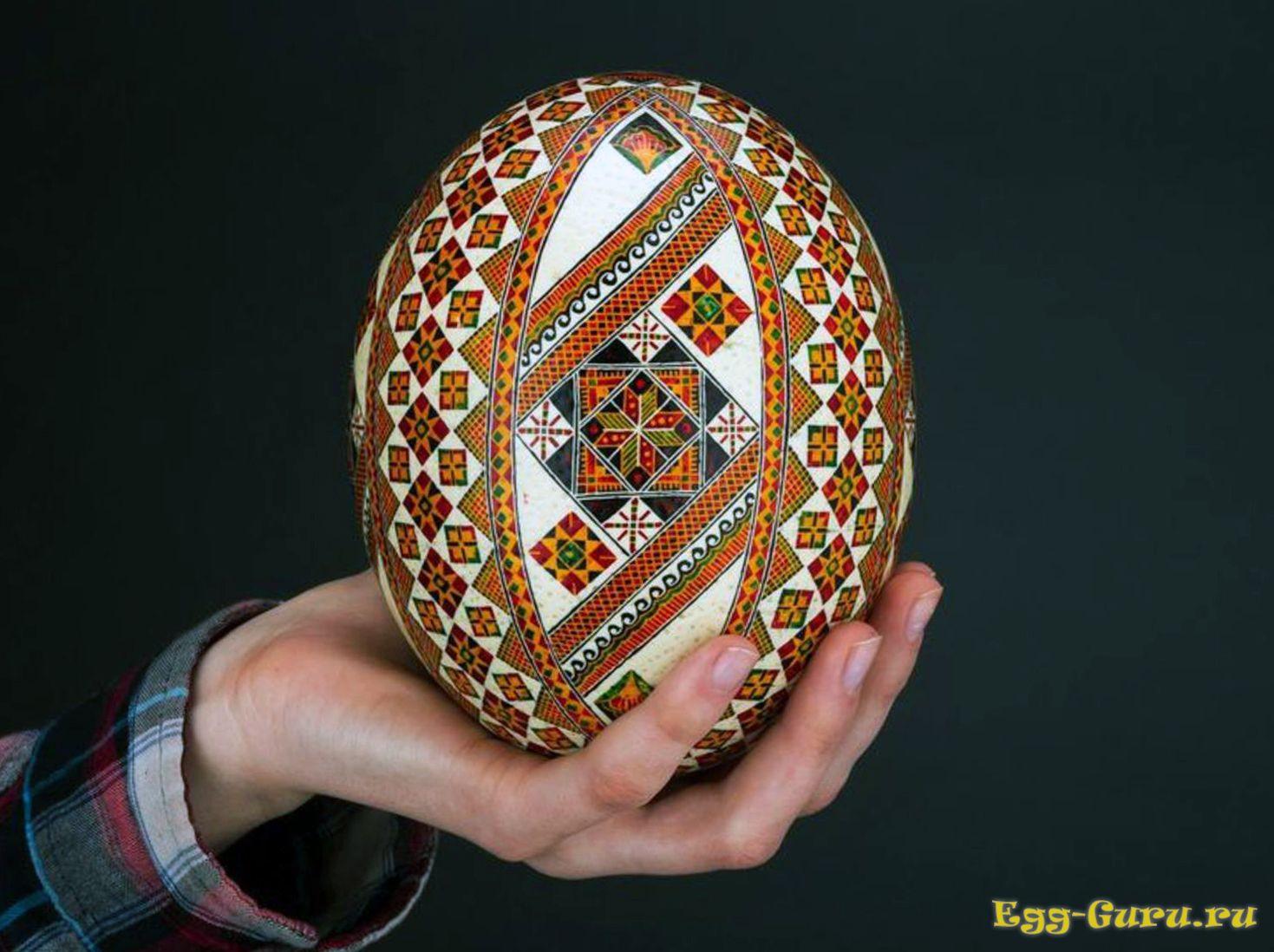 как разукрасить яйцо страуса