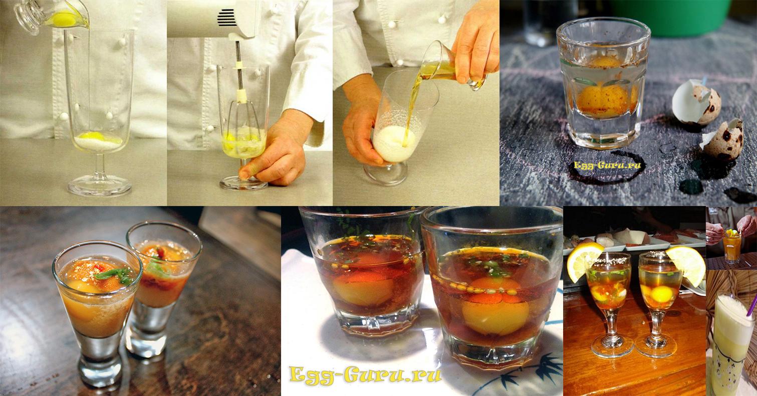 Коктейль из перепелиных яиц для спортсменов