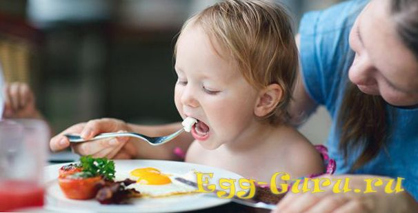 Яйца необходимы в детском рационе