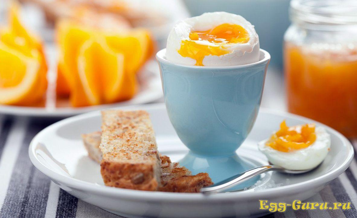 Сытный завтрак из яиц всмятку