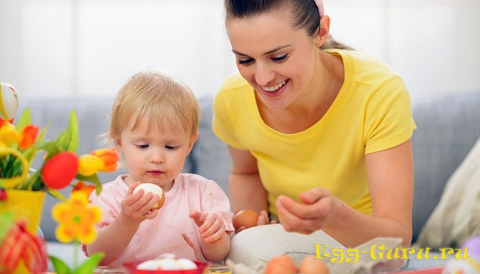 Яйца в детский рацион вводятся постепенно