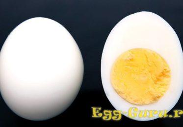 Сколько весит очищенное яйцо вкрутую?