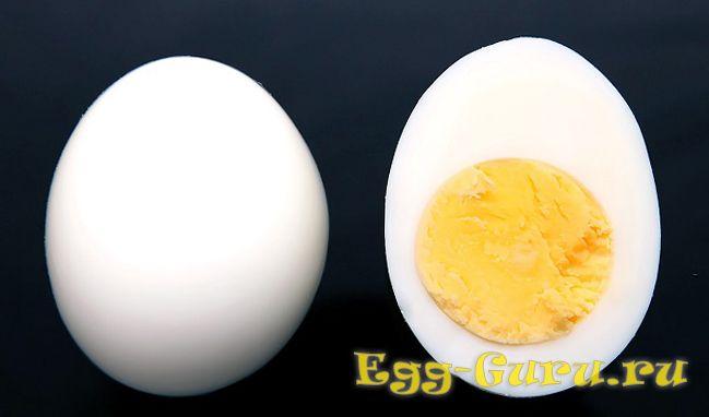 сколько будет весить яйцо вкрутую без скорлупы