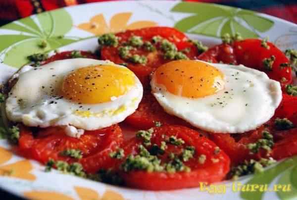 как готовить яичницу вкрутую