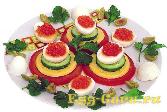 Перепелиные яйца с начинкой