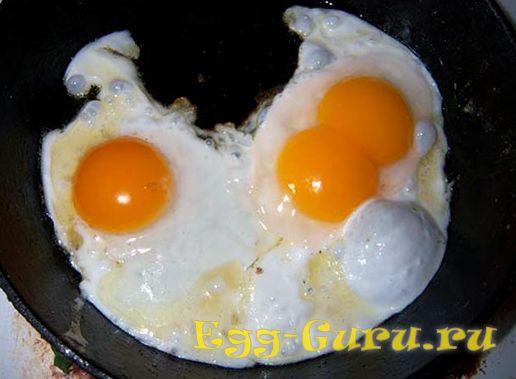 Яичница из яиц утки