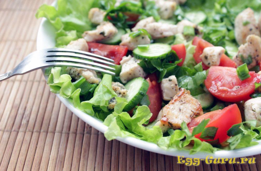 Салат с уткой и овощами