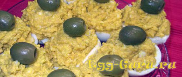 Яйца с икрой минтая