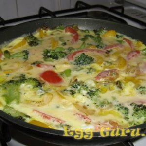 Омлет с овощами рецепт с фото