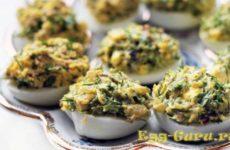 Яйца фаршированные грибами рецепты