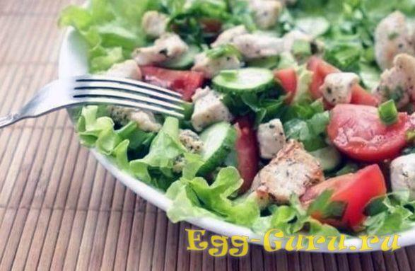 Салат из утки и овощей