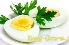 Калорийность яйца, вареного вкрутую