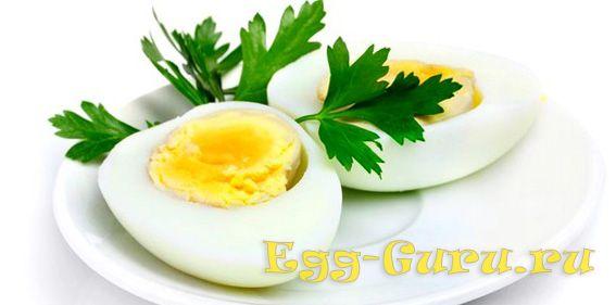 Калорийность яйца вкрутую