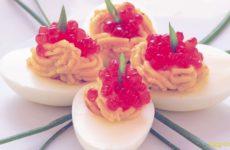 Яйца фаршированные икрой красной рецепты с фото