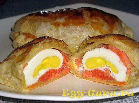 Запеченные в тесте яйца
