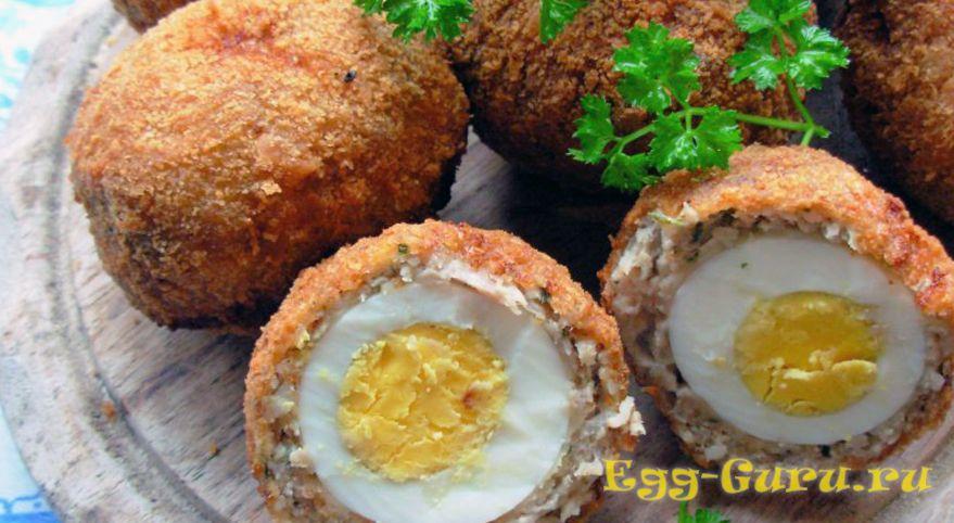 Зразы с начинкой из перепелиных яиц