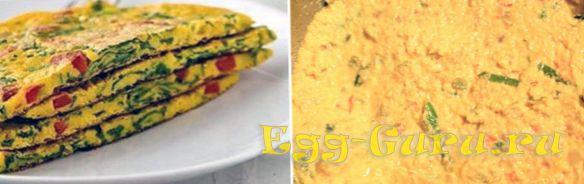 Постный омлет без яиц