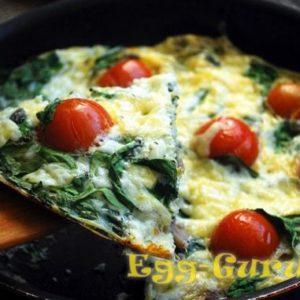 Яичница со шпинатом — рецепт с фото