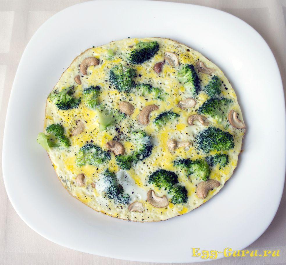 Яичница с брокколи
